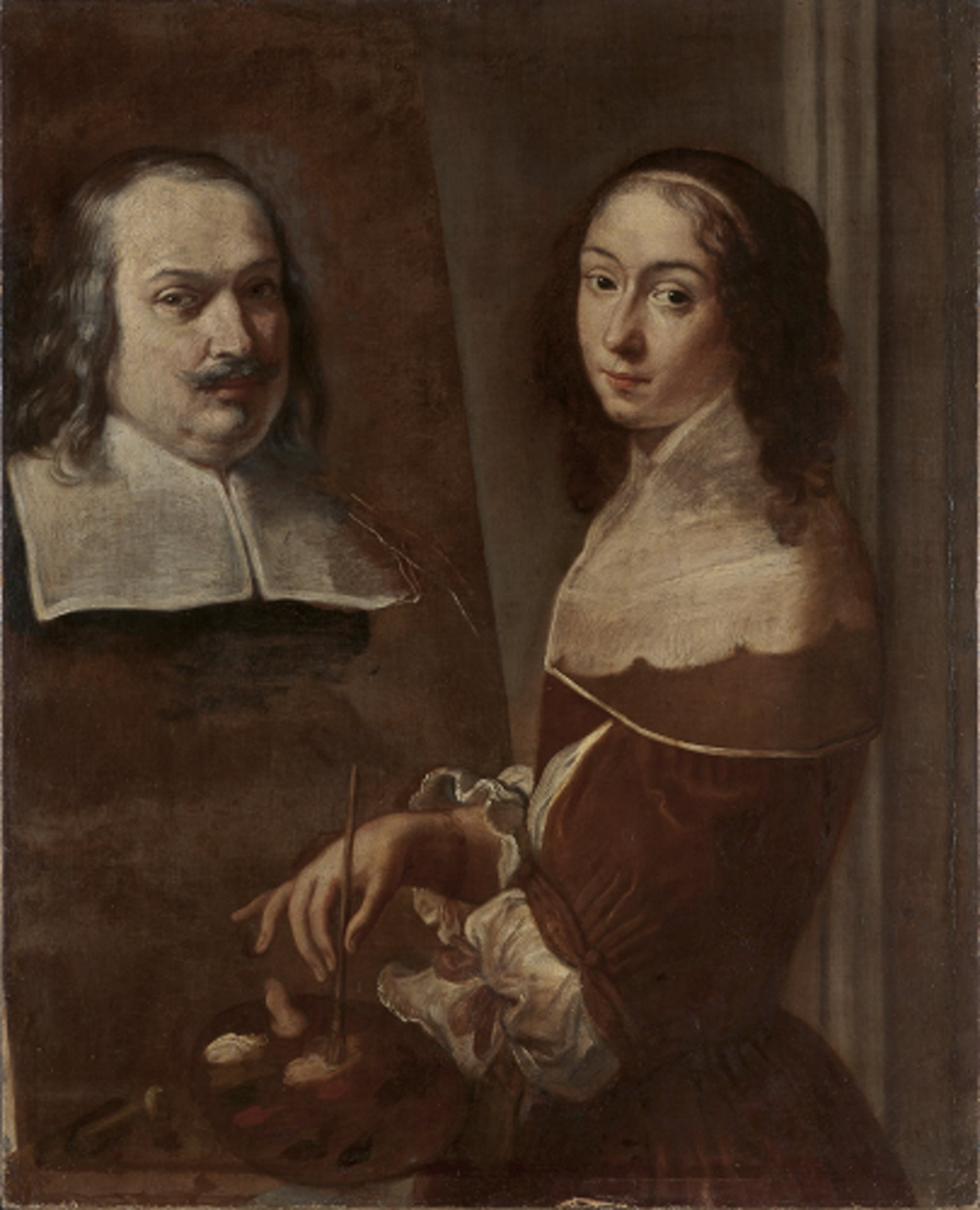 Fig. 6 Elisabetta Sirani, Autoritratto dell'artista che dipinge il ritratto del padre (Doppio autoritratto), San Pietroburgo, The State Hermitage Museum - Portrait of the Artist Painting a Portrait of her Father (Double Self-portrait), St. Petersburg, The State Hermitage Museum, © The State Hermitage Museum. Photo by Alexander Lavrentiev.