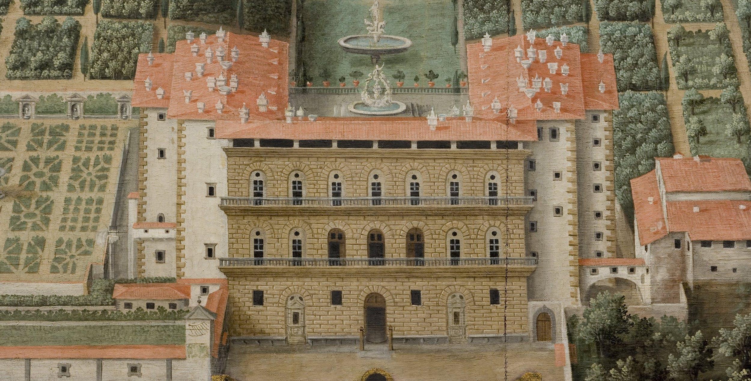 G. Utens, Veduta di Palazzo Pitti