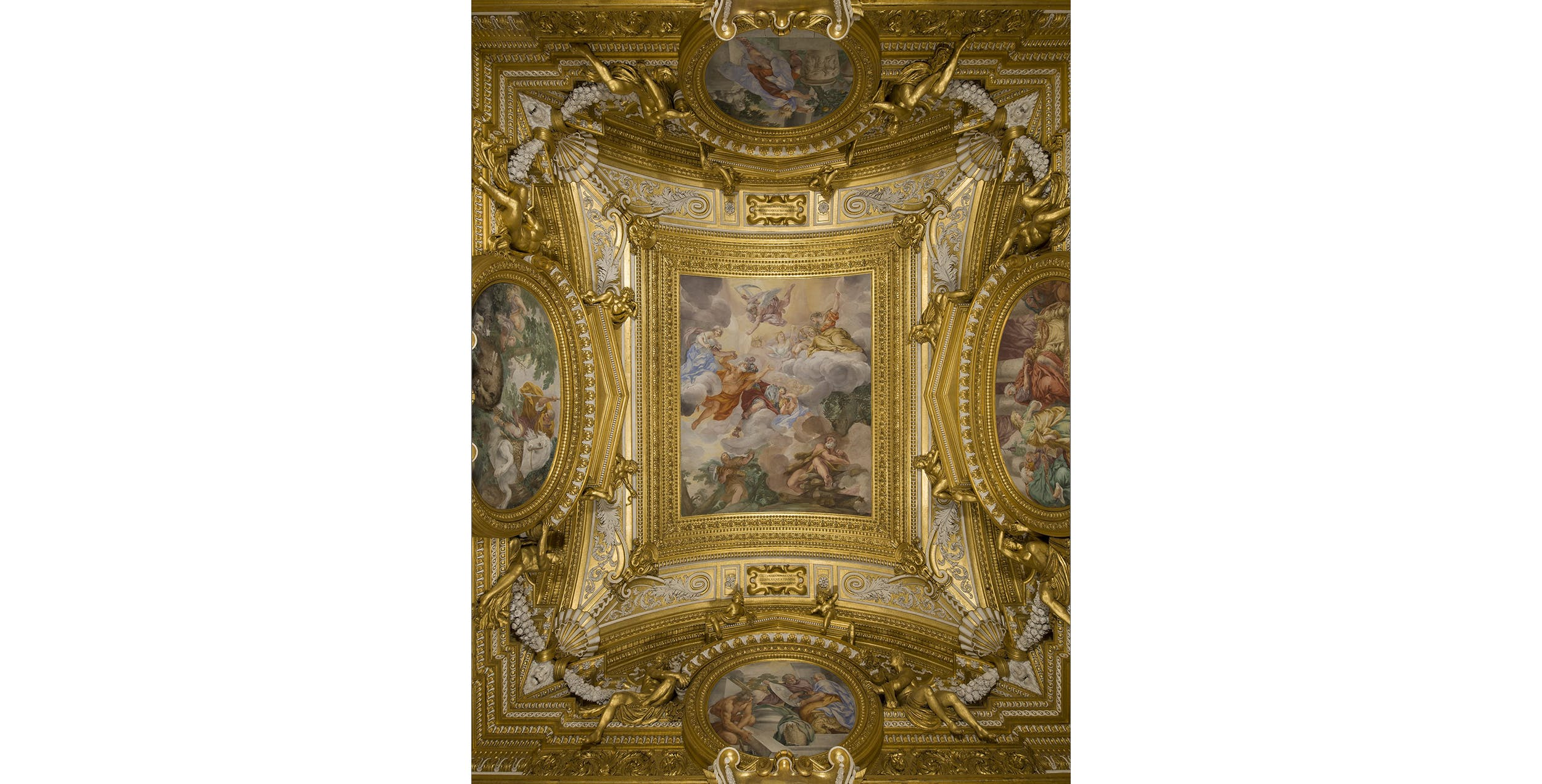 Ciro Ferri, decorazione del soffitto