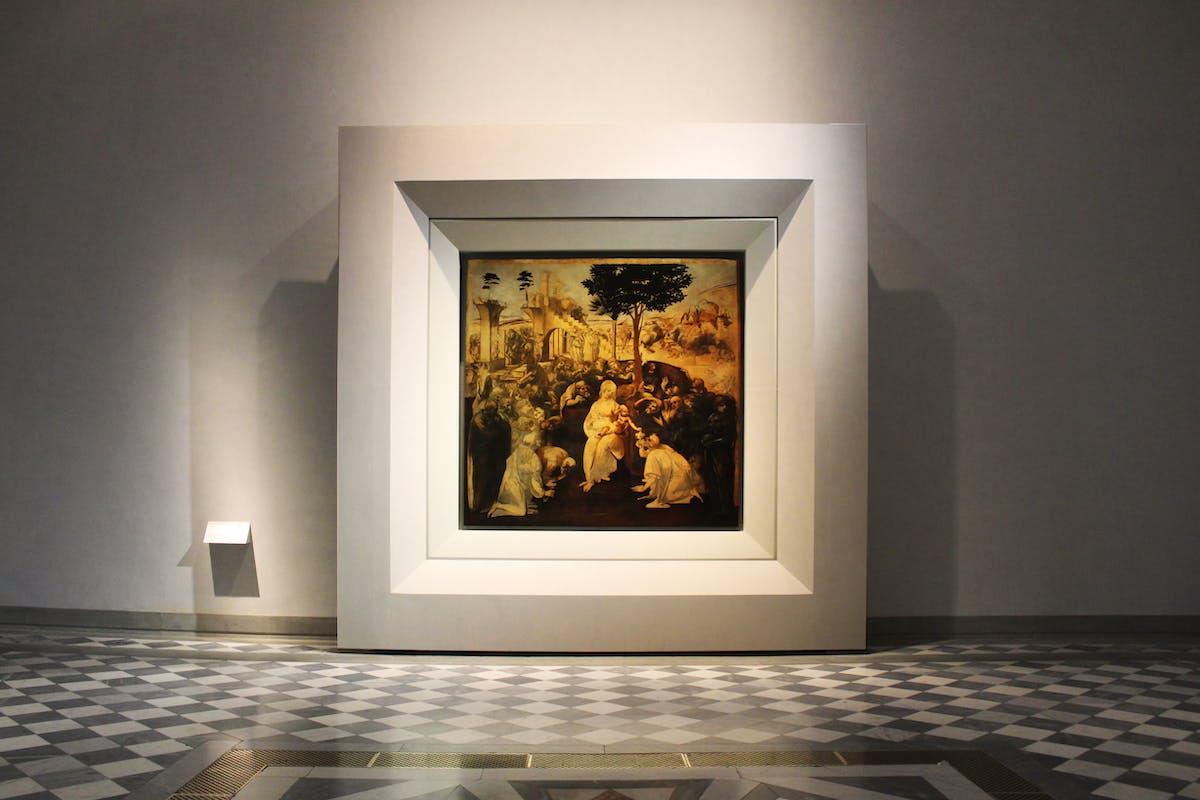 Leonardo da Vinci, Adorazione dei Magi 1482 c.
