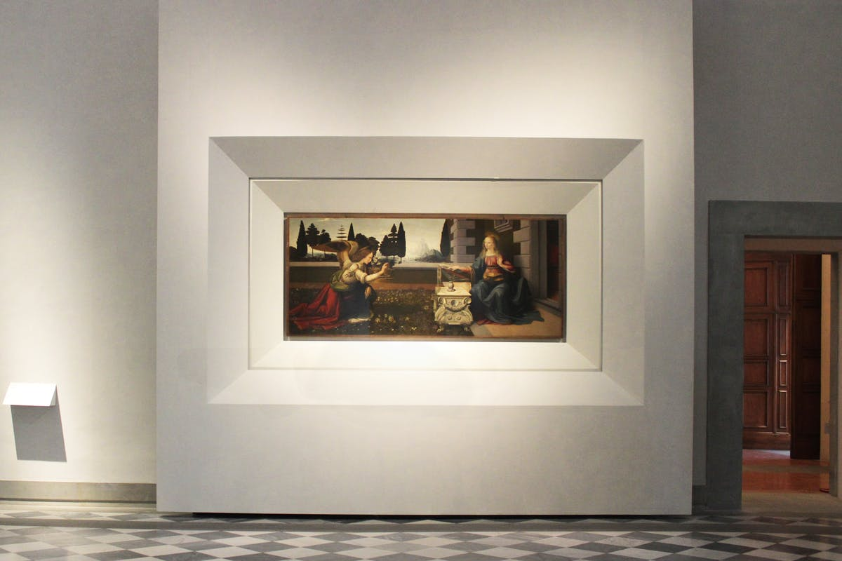 Leonardo da Vinci, Annunciazione 1472 c.