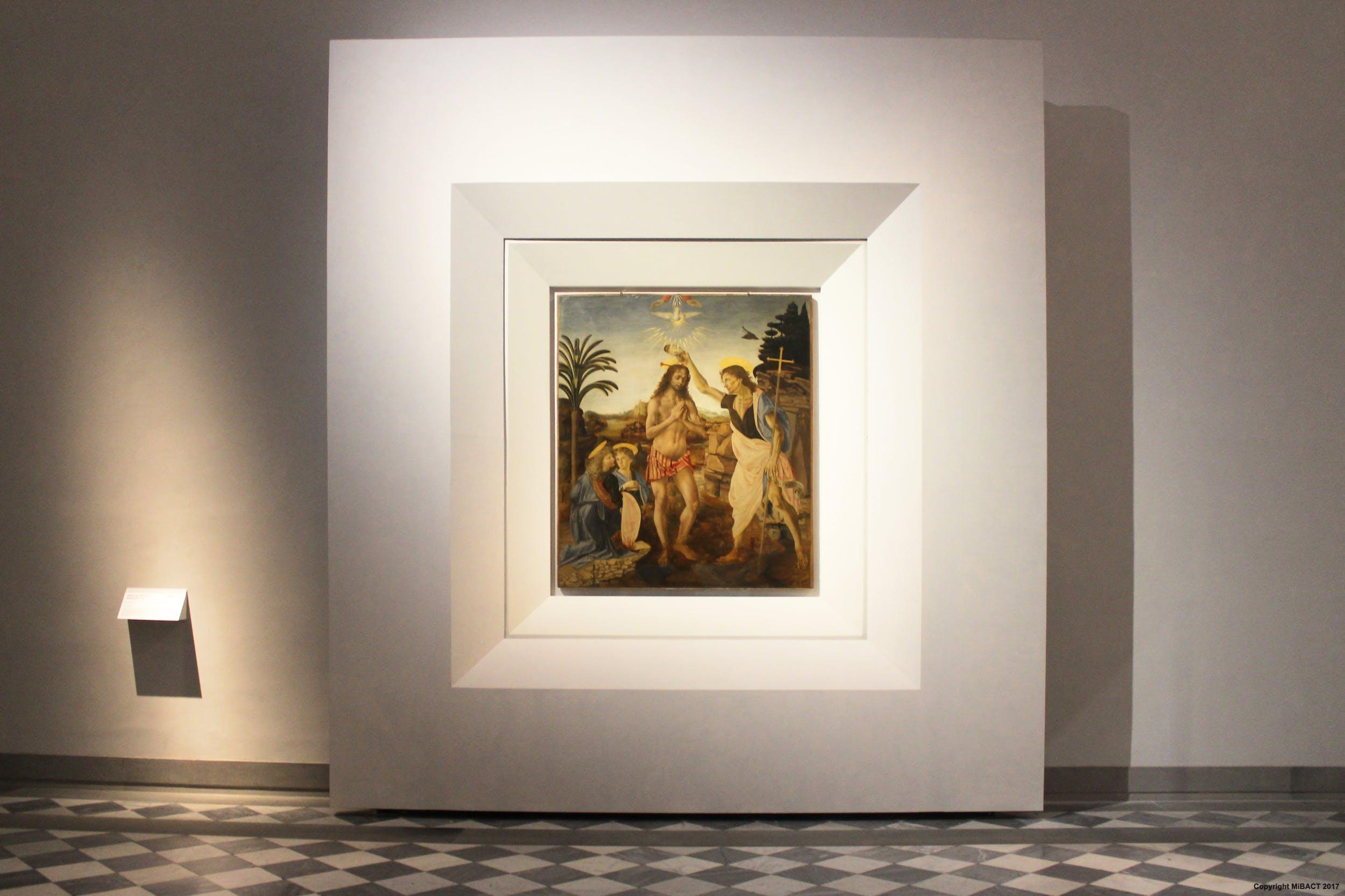 Verrocchio e Leonardo, Battesimo di Cristo 1475 c.
