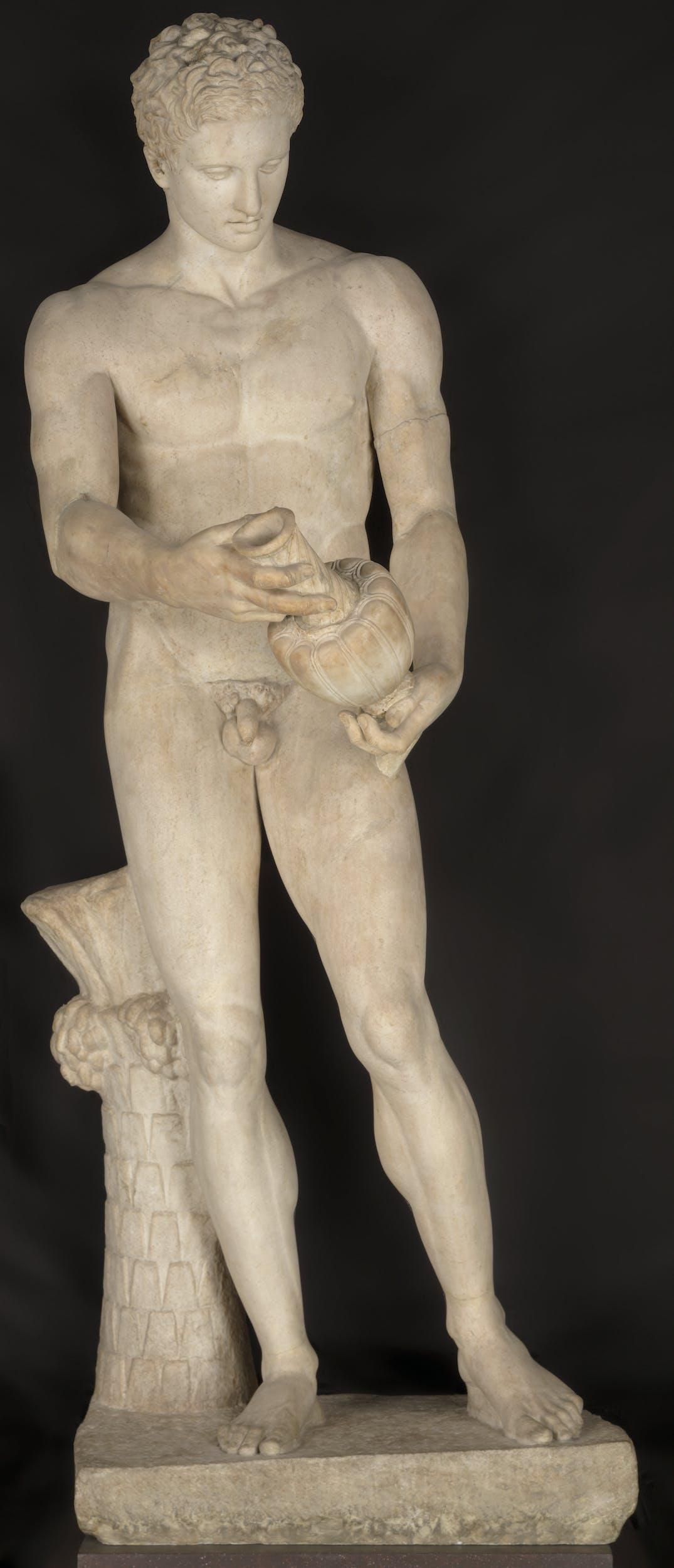 Apoxyomenos (atleta con lo strigile, Copia del I sec. d. C.) da un originale greco del IV sec. a. C.