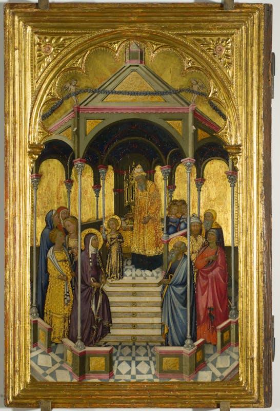Presentazione della Vergine al tempio, Niccolò di Buonaccorso, 1380 ca., Uffizi | Presentation of the Virgin, Niccolò di Buonaccorso, 1380c., Uffizi