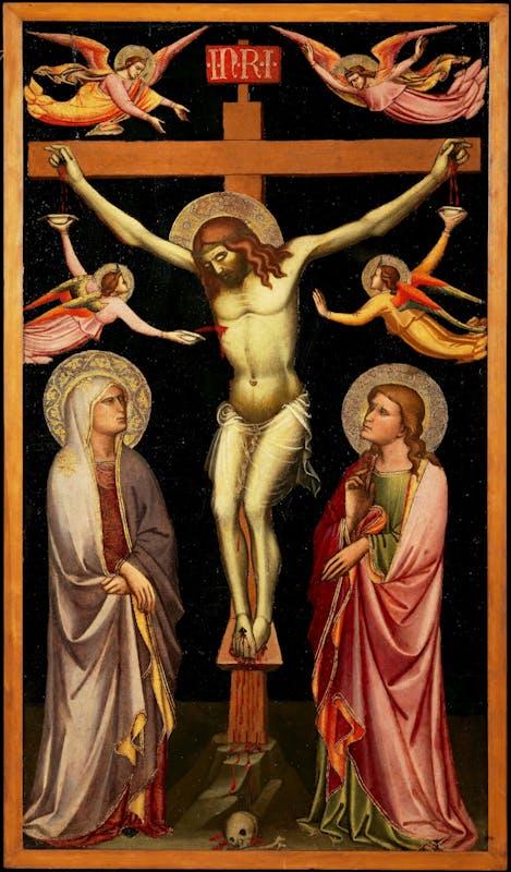 Niccolò Gerini, Crocifissione, 1390-1395 circa, Uffizi | Niccolò Gerini, Crucifixion, 1390-1395c., Uffizi