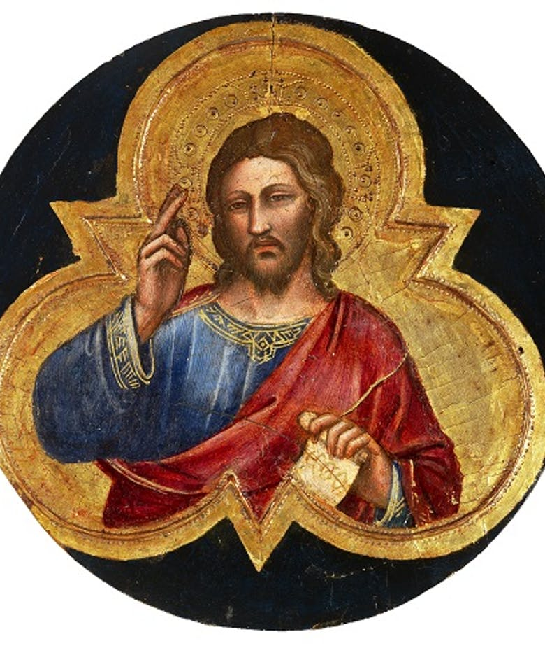 Christ Blessing by Spinello Aretino