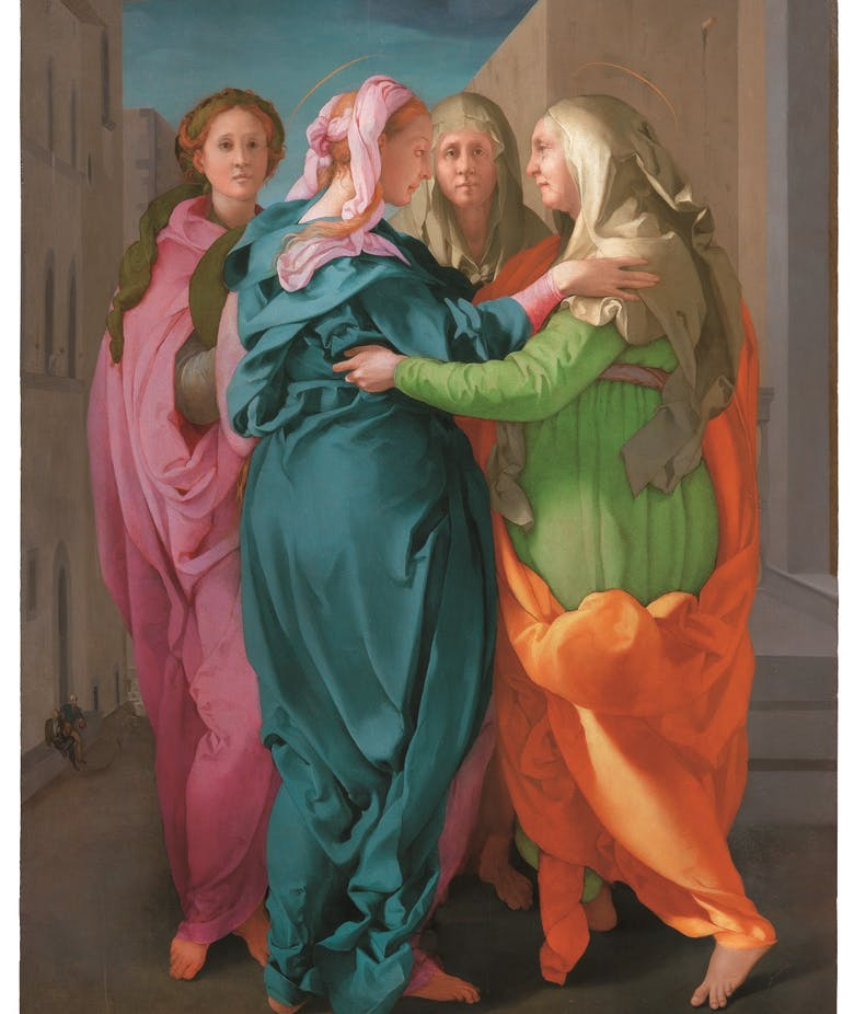The Visitation by Pontormo still on display at Pitti Palace