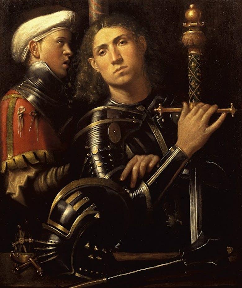 """Ritratto di guerriero con scudiero detto """"Gattamelata"""""""