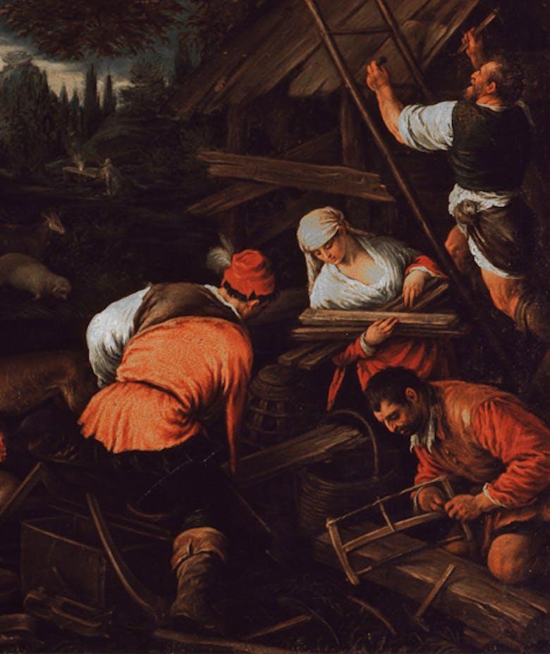 Dio parla a Noè dopo il diluvio
