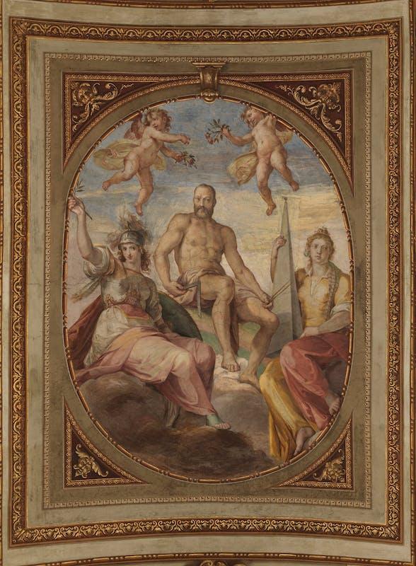 Cosimo I tra Minerva e la Gloria | Cosimo I between Athena and the Glory