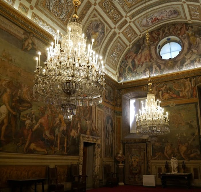 The upcoming restoration of the Room of Bona's wall paintings