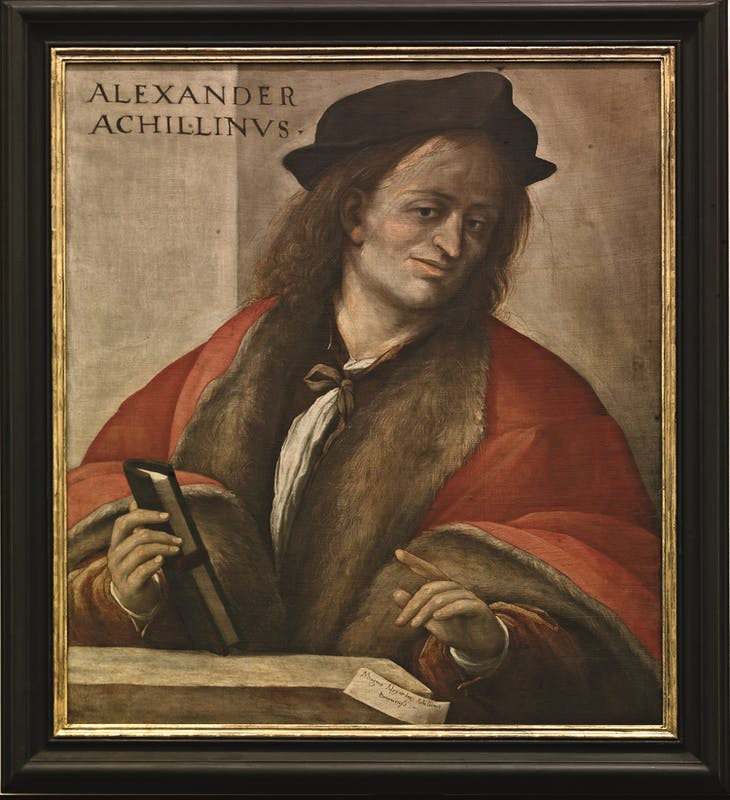 Amico Aspertini (Bologna, 1473/1475-1552) Ritratto di Alessandro Achillini 1515-1521 ca. olio e tempera su tela Galleria delle Statue e delle Pitture, Gallerie degli Uffizi, Firenze