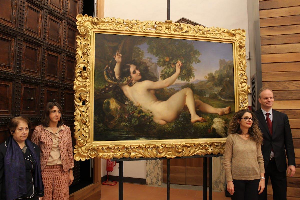 Da sinistra: Simonella Condemi Elena Marconi, Vanessa Gavioli, Eike Schmidt