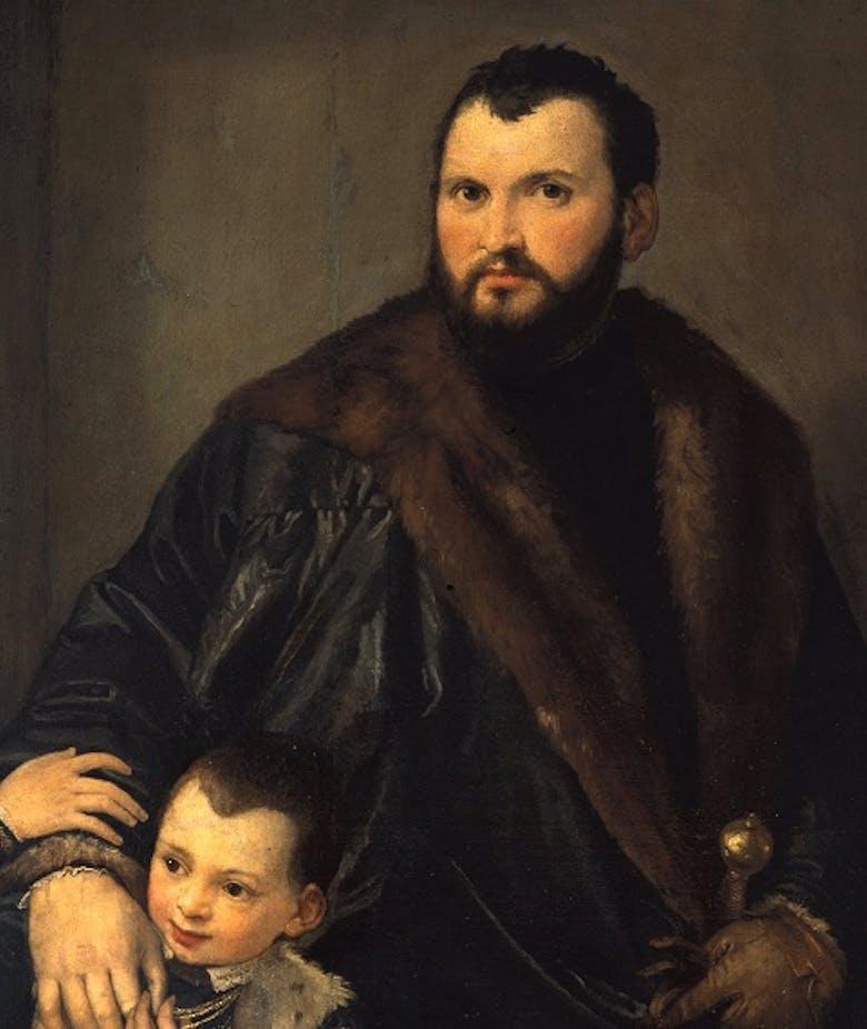 Ritratto di Giuseppe da Porto con il figlio Adriano