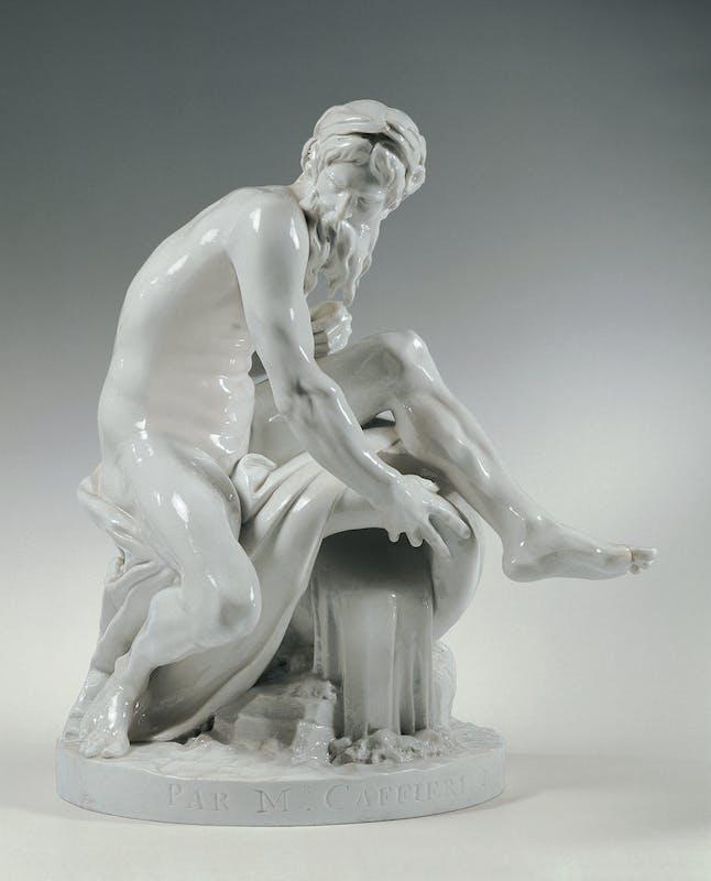 Manifattura Imperiale di porcellane, Vienna Il Fiume (da Jean Jaques Caffieri) 1765 circa Porcellana Belvedere, Vienna