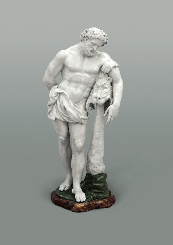 Gaspero Bruschi, attribuito (Firenze 1710-1780) e Manifattura Ginori, Doccia Ercole (da un marmo antico, con varianti) 1754-1755 circa porcellana The Princely Collections, Vaduz–Vienna, LIECHTENSTEIN