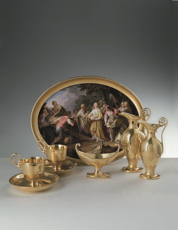 Leopold Lieb (1771-1836) e Manifattura Imperiale di porcellane, Vienna Tête-à-tête da colazione 1810-1811 circa porcellana dipinta in policromia e dorata Museo delle Porcellane, Gallerie degli Uffizi, Firenze
