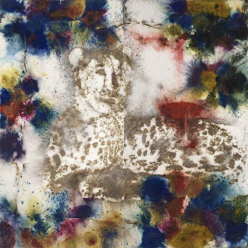 Bacchus, 2018 Gunpowder on canvas; 300 x 300 cm - Photo by Yvonne Zhao, courtesy Cai Studio.