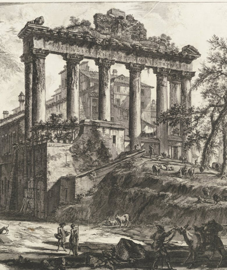 View of the so-called Temple of Concord, in 'Views of Rome'
