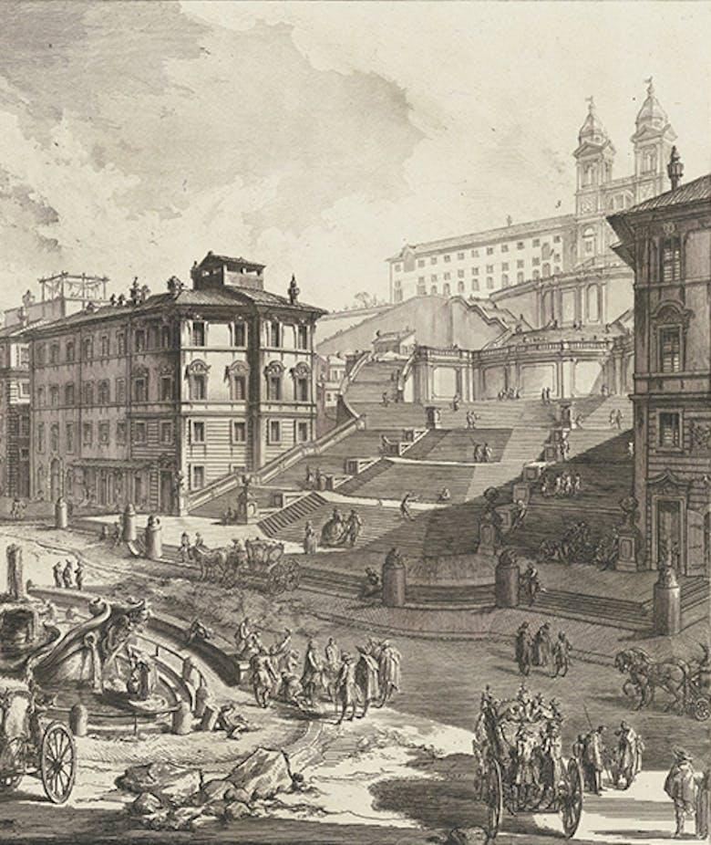 Veduta di Piazza di Spagna, in 'Le Vedute di Roma'