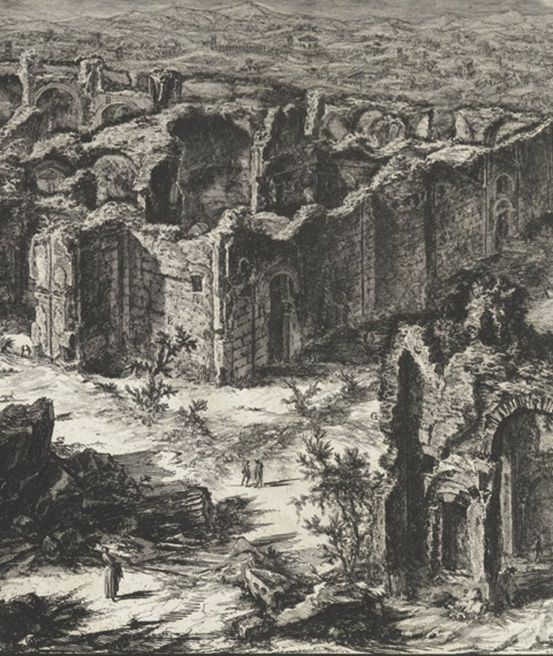 Ruins of the Antonine Baths, in 'Views of Rome'