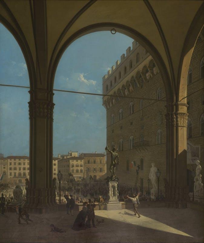 Enrico Alessandro Fanfani, La mattina del 27 aprile 1859