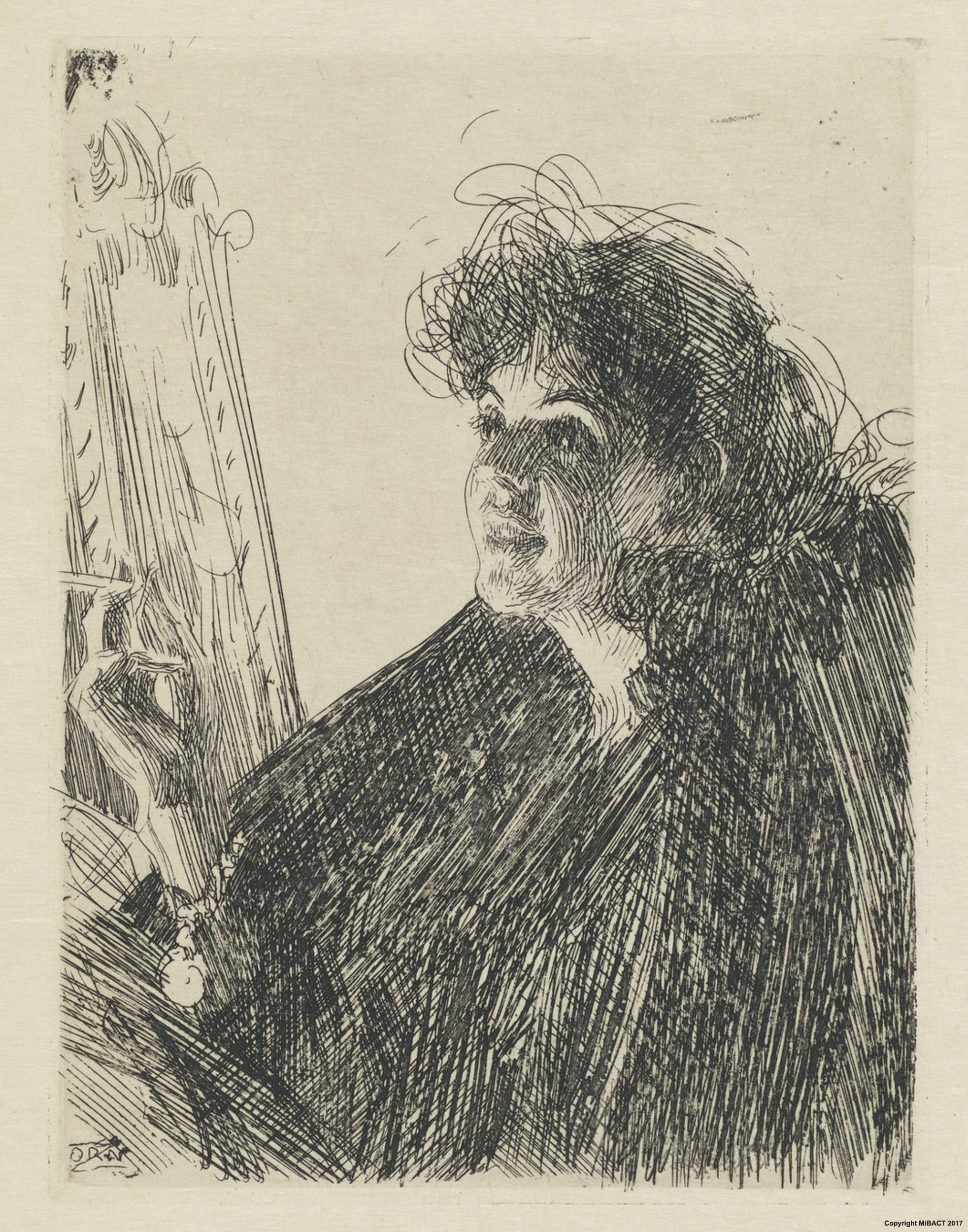 Girl With A Cigarette I Portrait Of Miss X By Anders Zorn Artworks Uffizi Galleries