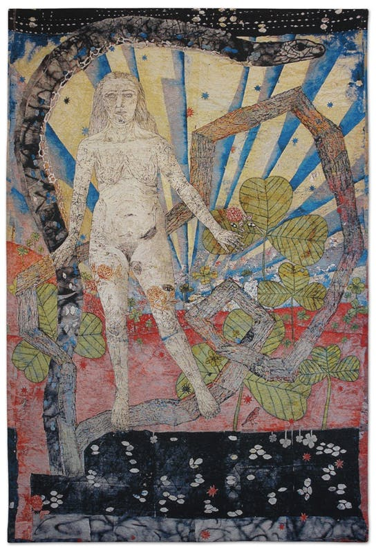 Kiki Smith, Earth 2012 arazzo jacquard (edizione di 10) Edito da Magnolia Editions © Kiki Smith 2012, courtesy dell'artista e di Pace Gallery