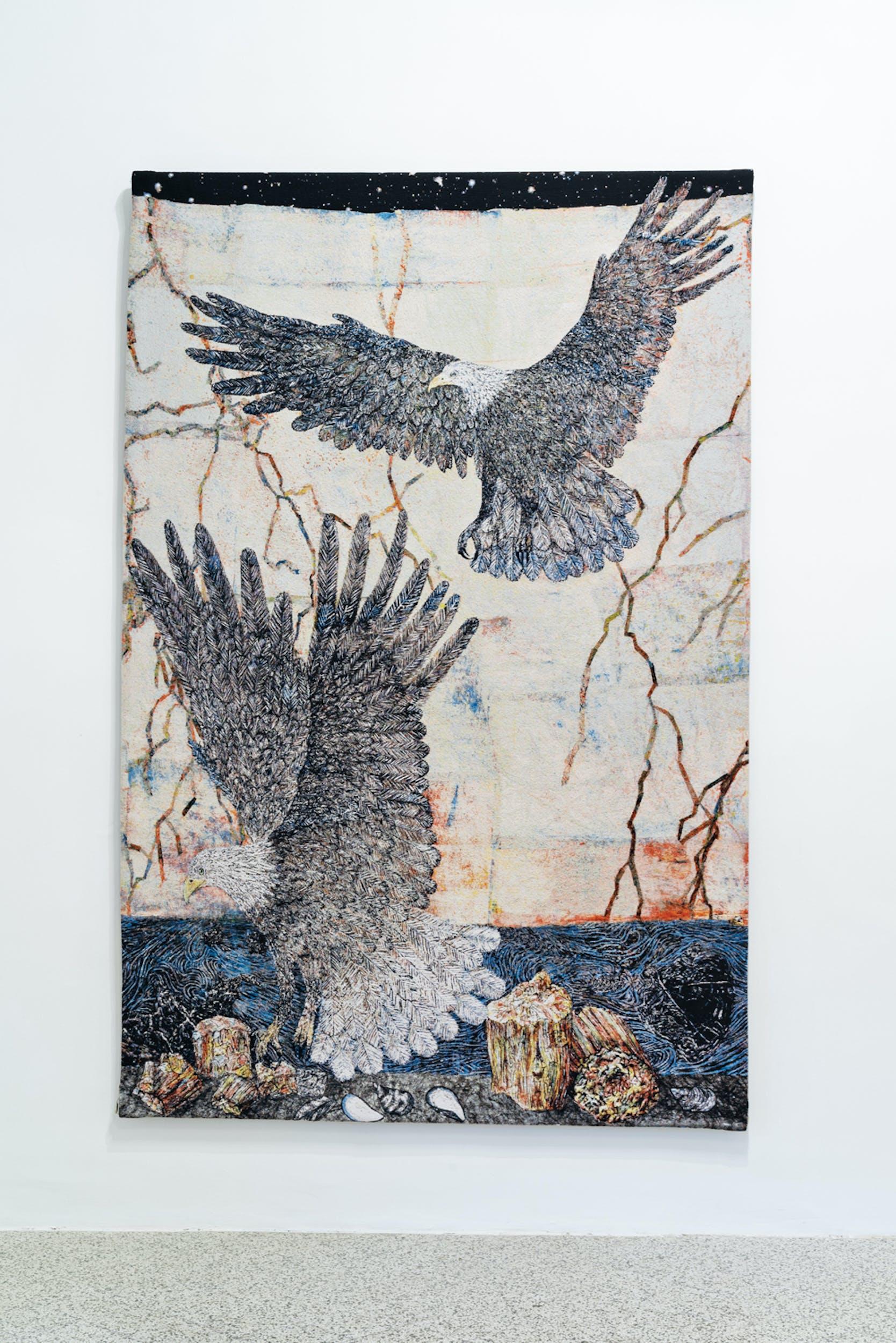 Kiki Smith, Guide 2012 arazzo jacquard (edizione di 10) Edito da Magnolia Editions © Kiki Smith 2012, courtesy dell'artista e di GALLERIA CONTINUA, San Gimignano / Beijing / Les Moulins / Habana