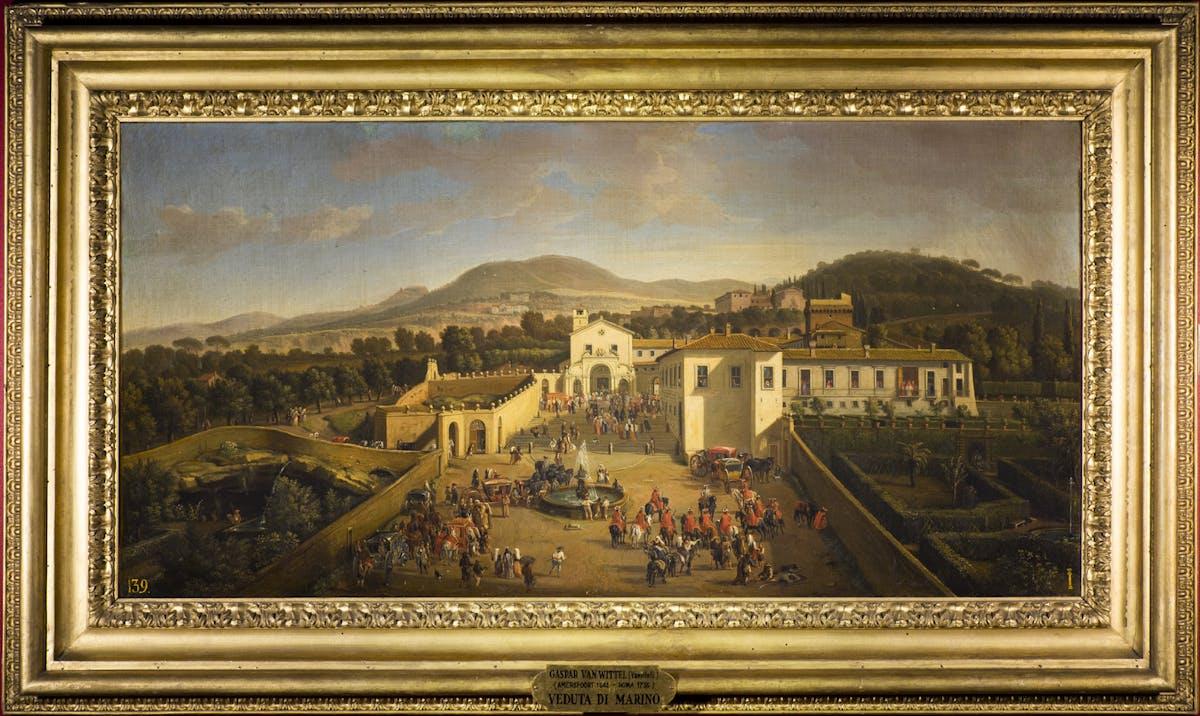 Gaspare van Wittel (1653-1736) Veduta del Convento di San Paolo ad Albano Laziale 1710 olio su tela Galleria Palatina, Palazzo Pitti, Firenze