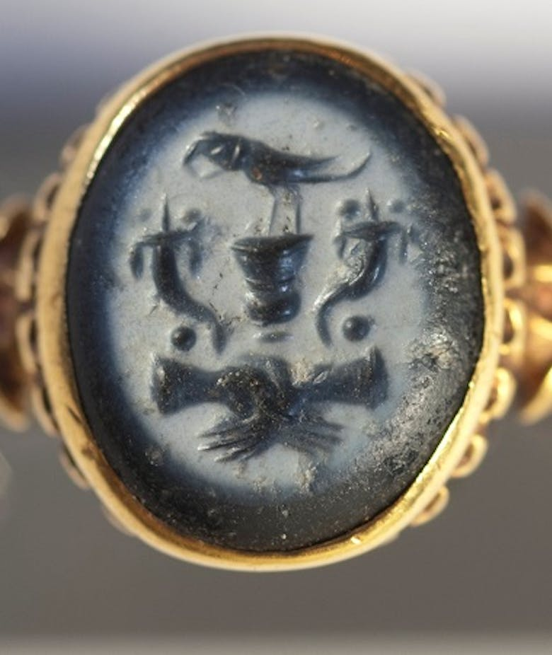 Ring with carved stone