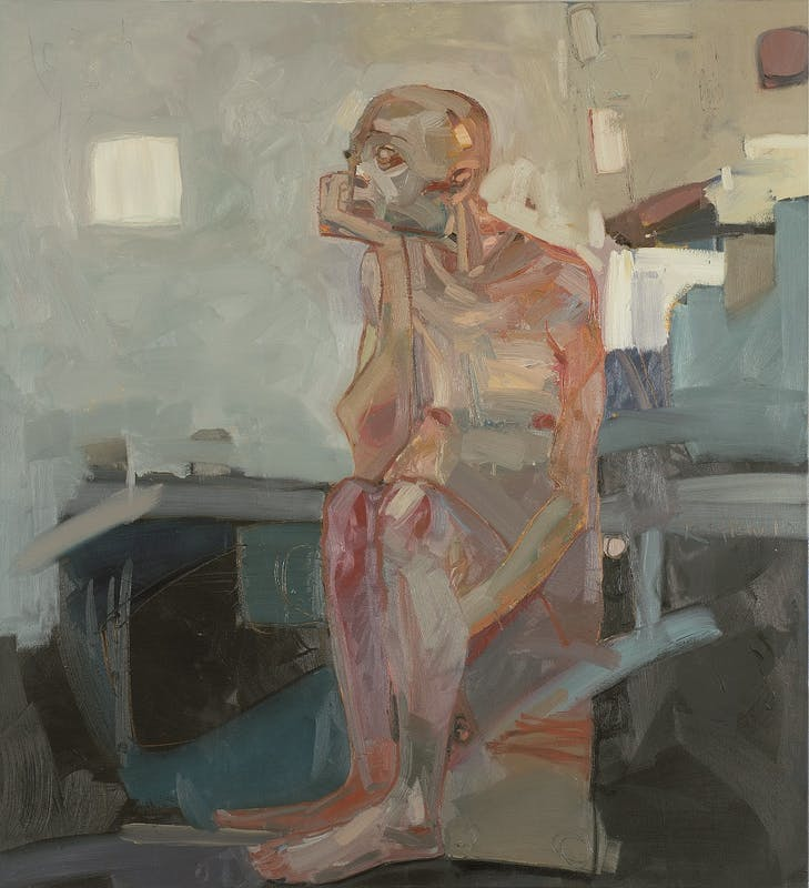 Tesfaye Urgessa, Waiting (L'attesa), 2010, olio su tela, oil on canvas.