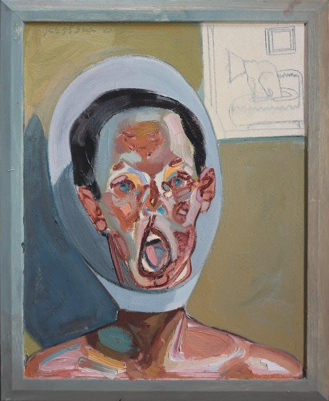 Tesfaye Urgessa, Portrait of a Man (Ritratto d'uomo), 2015, olio su tela, oil on canvas.