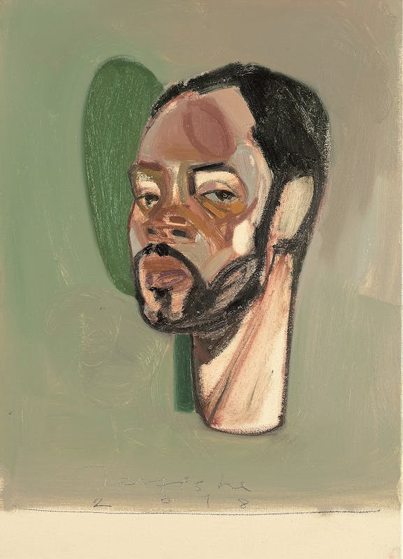 Tesfaye Urgessa, Self-portrait 1 (Autoritratto 1), 2018, olio su tela, oil on canvas.