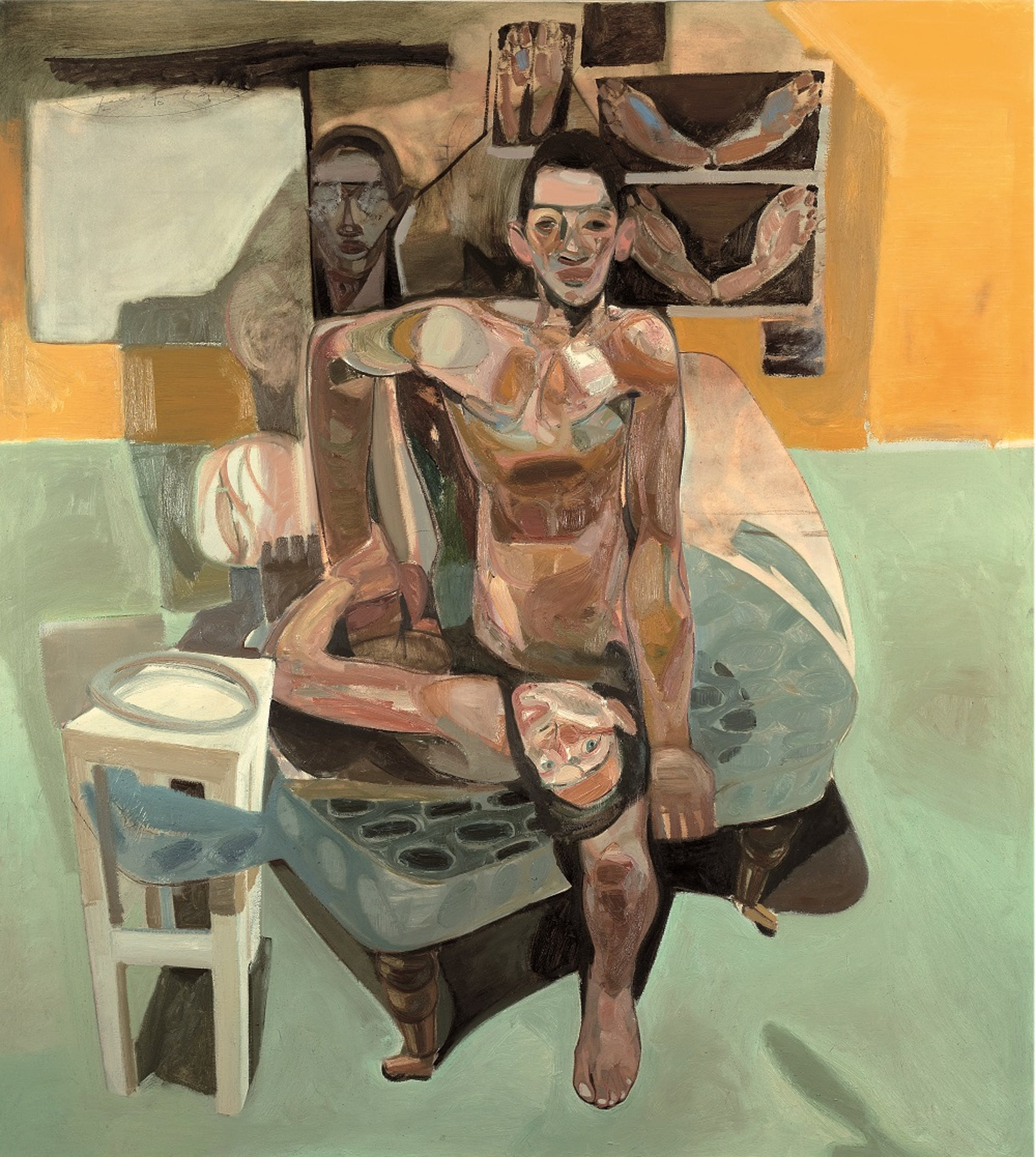 Tesfaye Urgessa, Die Beobachteten 18 (The observed 18, L'osservato 18), 2018, olio su tela, oil on canvas.