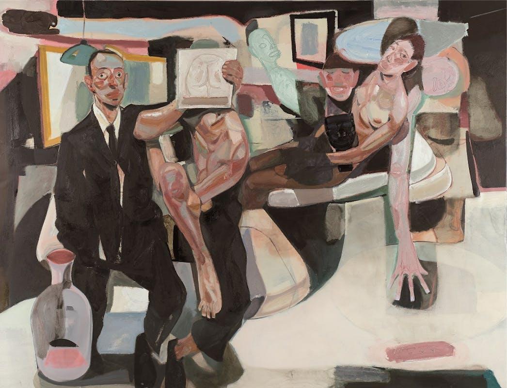 Tesfaye Urgessa, Trapped in the Flesh (Intrappolato nella carne), 2018, olio su tela, oil on canvas.