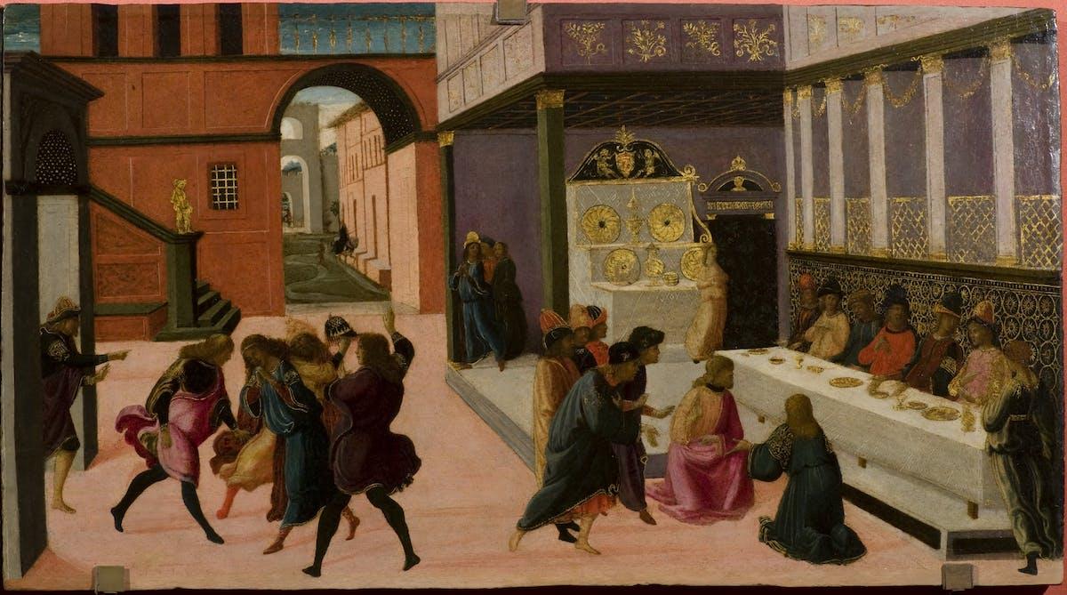 Il Banchetto Di Vasti Jacopo Del Sellaio Opere Le Gallerie