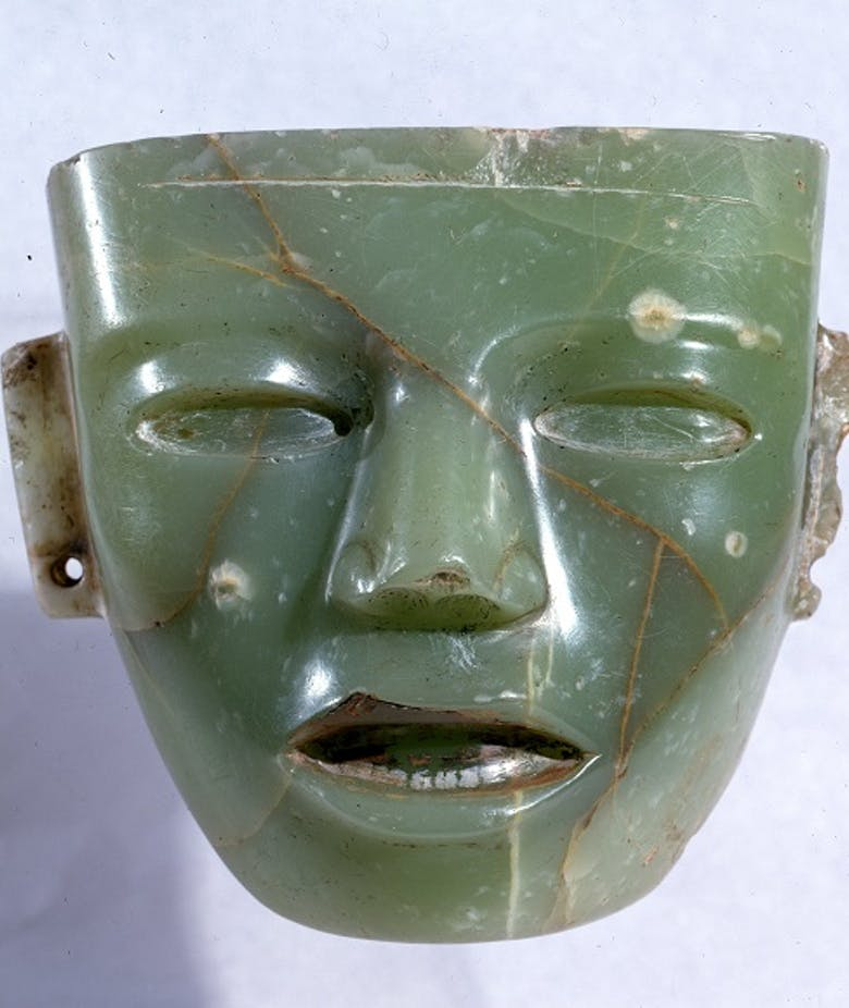 Stone mask from Teotihuacan in Mexico