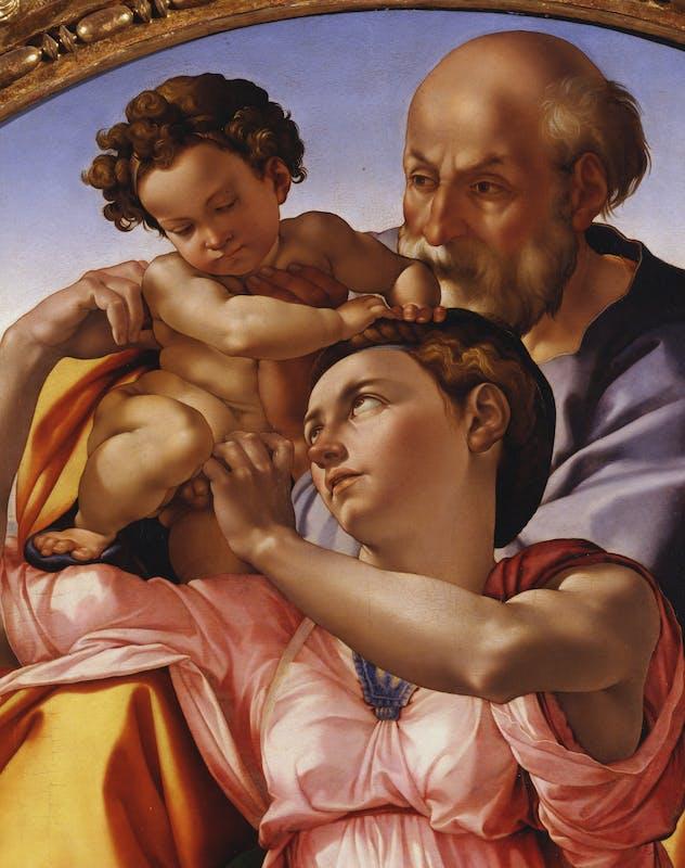 particolare del Tondo Doni, eseguito da Michelangelo per Agnolo Doni nel 1506