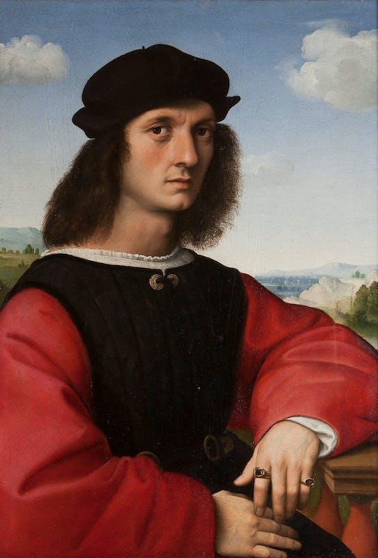 Raffaello, ritratto di Agnolo Doni, 1504-1507