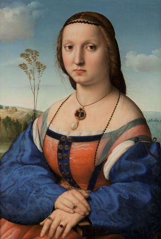 Raffaello, ritratto di Maddalena Strozzi, 1504-1507