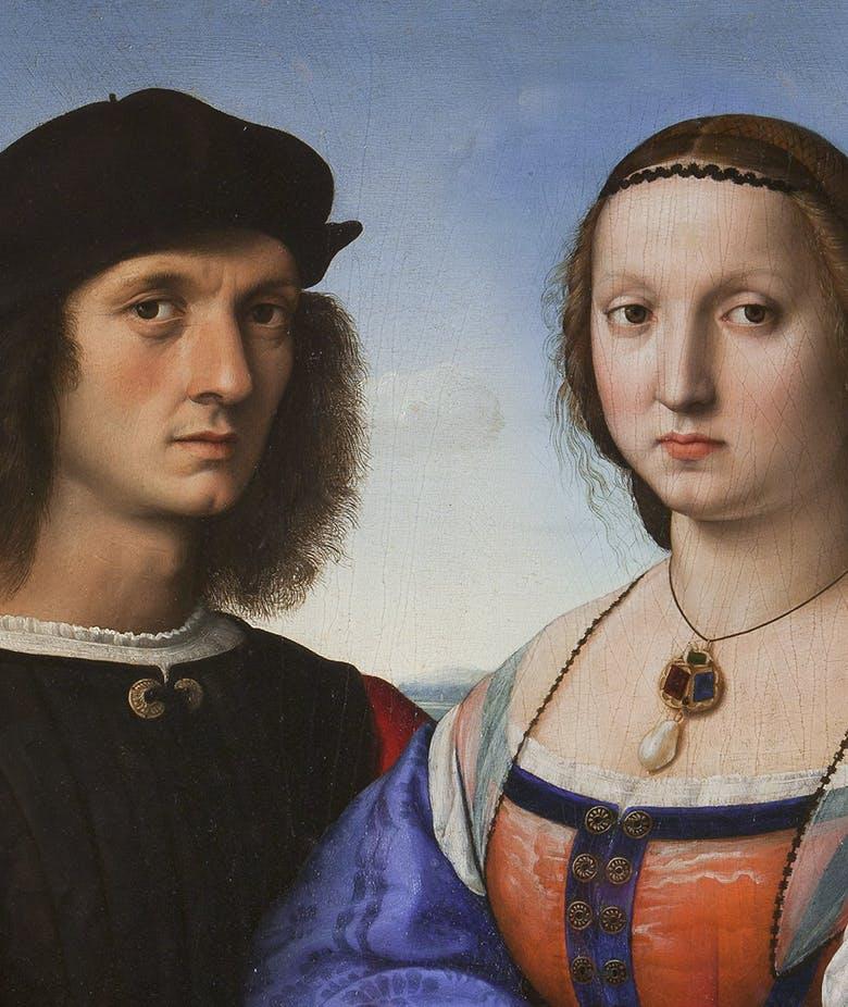 Ritratti di Agnolo e Maddalena Doni (recto); Il Diluvio e Deucalione e Pirra (verso)