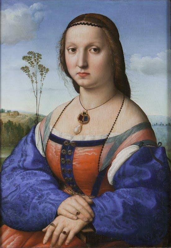 Raffello, ritratto di Maddalena Strozzi | Raphael, portrait of Maddalena Strozzi