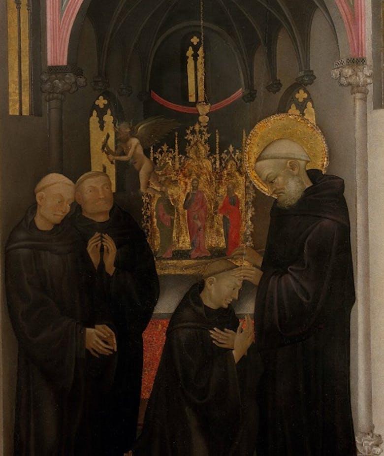 San Benedetto esorcizza un monaco