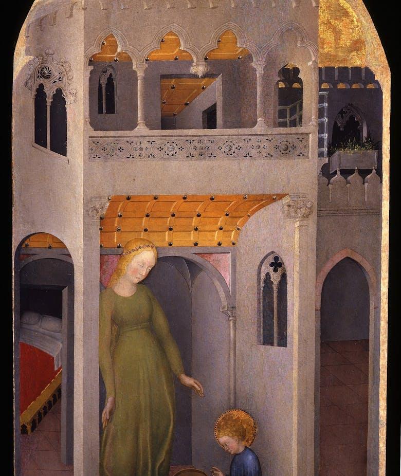 San Benedetto fanciullo risana il vaglio infranto