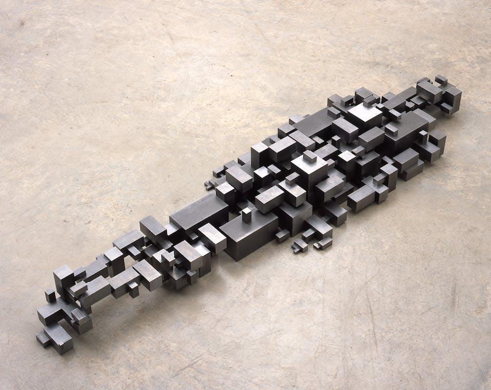 Antony Gormley Settlement, 2005 Blocchi in acciaio dolce di dimensioni variabili 24 x 208.5 x 60 cm Foto di Stephen White, London  © the artist