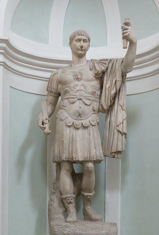 Statua di Traiano inizio del II secolo d.C. Galleria delle Statue e delle Pitture, Gallerie degli Uffizi, Firenze