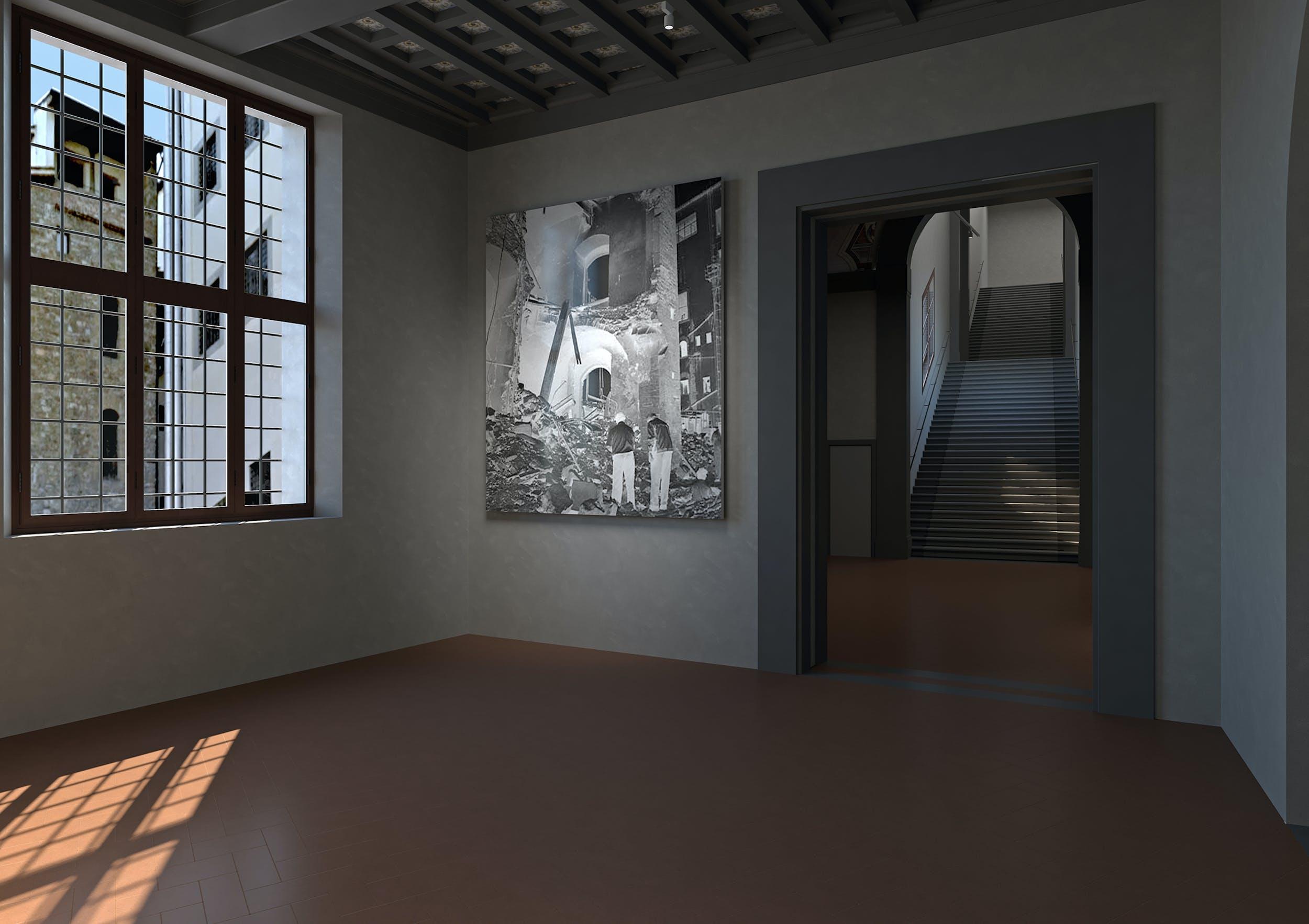 Corridoio Vasariano, rendering memoriale dedicato all'attentato del 1993 di via dei Georgofili