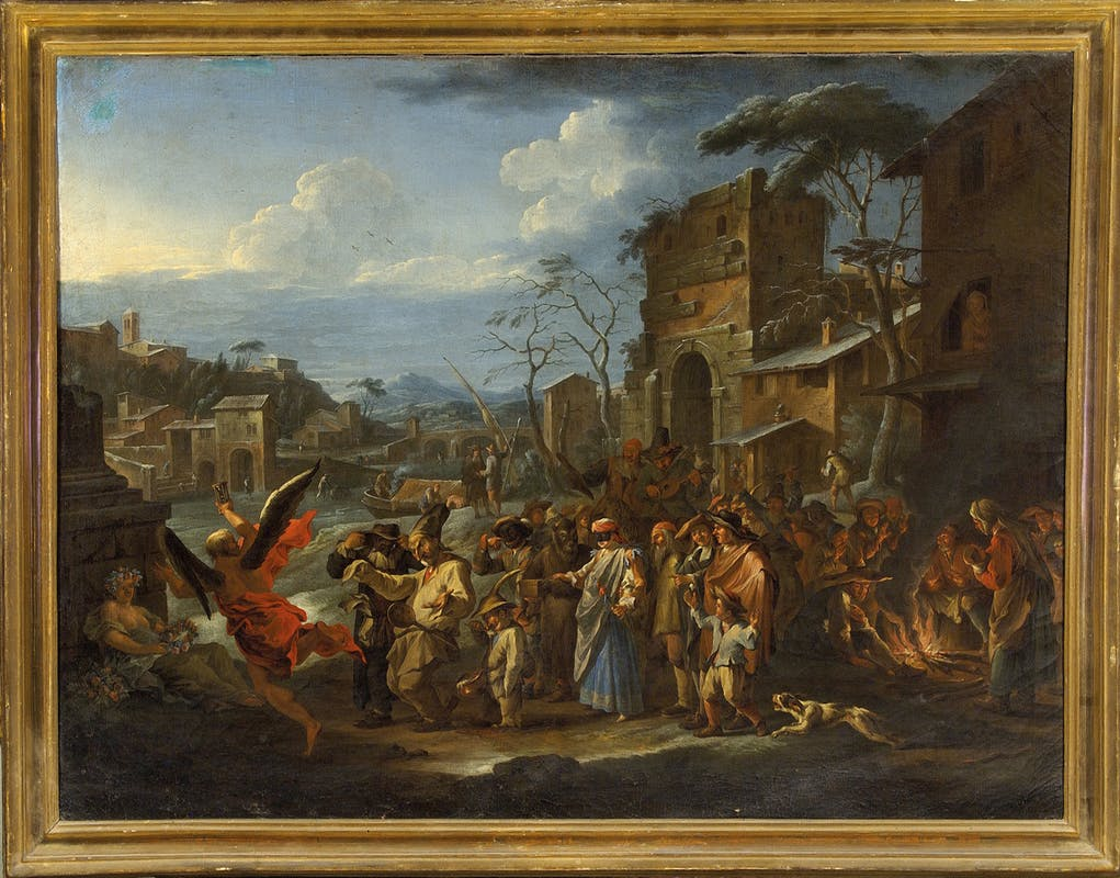 Fig. 9 Bartolomeo Bianchini (Firenze 1634 - Firenze, Vallombrosa 1711) Scena carnevalesca 1691-1695 circa olio su tela Galleria Palatina, Gallerie degli Uffizi, Firenze