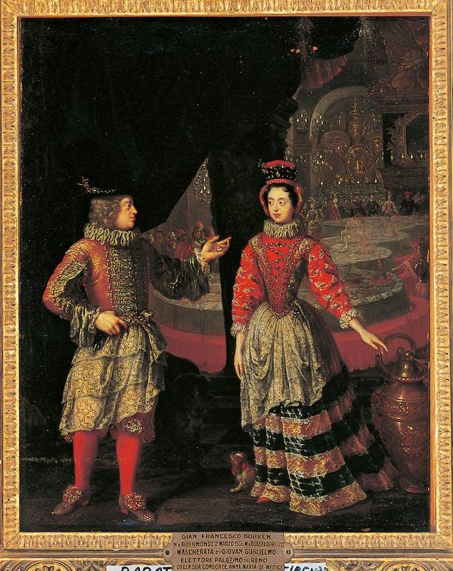 Fig. 10 Jan Frans van Douven (Roermond 1656 - Bonn 1727) Gli Elettori Palatini in maschera 1692 circa olio su tela Galleria Palatina, Gallerie degli Uffizi, Firenze